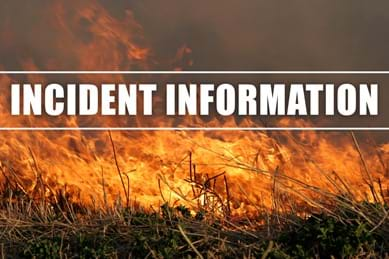 Image of fire burning in background with text that reads: Incident Information